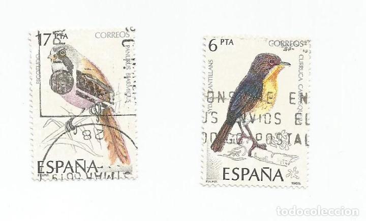 Sellos: LOTE DE 2 SELLOS USADOS DE 1985- SERIE PAJAROS-AVES- EDIFIL 2820 Y 2823 - Foto 3 - 206158312