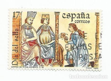 SELLO USADO DEL AÑO 1986-SERIE DIA DEL SELLO-CANTIGAS DE ALFONSO X EL SABIO - EDIFIL 2855 (Sellos - España - Juan Carlos I - Desde 1.975 a 1.985 - Usados)