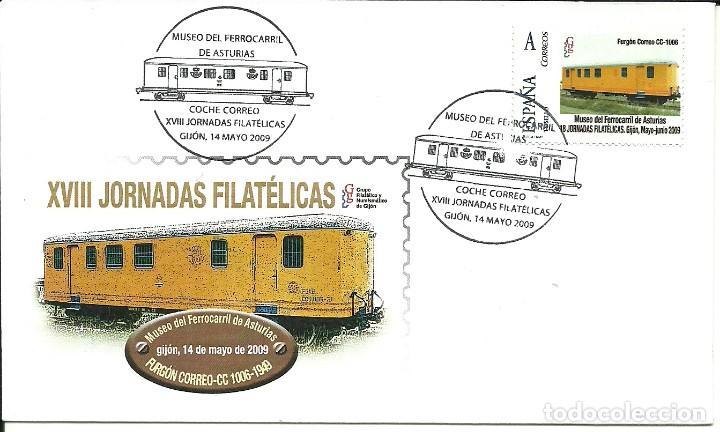 SOBRE CON UN -TU SELLO- MUSEO FERROCARRIL ASTURIAS ,MATASELLADO EN GIJÓN (Sellos - España - Juan Carlos I - Desde 2.000 - Cartas)