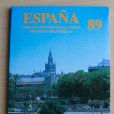 Sellos: LIBRO OFICIAL CORREOS ESPAÑA 1989. Lote 206293830