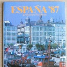 Sellos: LIBRO DE SELLOS ESPAÑA EMISIONES 1987,. Lote 206317247