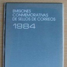 Sellos: LIBRO DE SELLOS ESPAÑA EMISIONES CONMEMORATIVAS 1984. Lote 206317763
