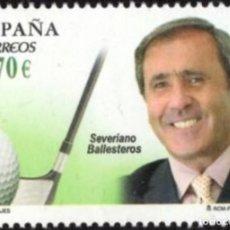 Sellos: ESPAÑA 2012 EDIFIL 4717 SELLO ** PERSONAJES SEVERIANO BALLESTEROS SOTA (1957-2011) GOLFISTA 0,70€ SP. Lote 218810390