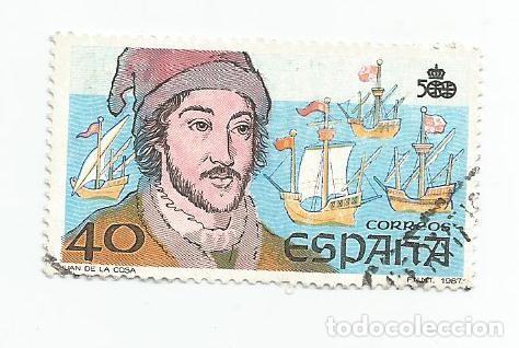 LOTE DE 2 SELLOS USADOS DE 1987- SERIE V CENTENARIO DESCUBRIMIENTO DE AMERICA-EDIFIL 2919 Y 2922 (Sellos - España - Juan Carlos I - Desde 1.986 a 1.999 - Usados)