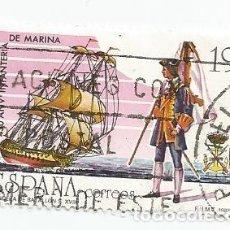 Sellos: LOTE DE 2 SELLOS USADOS DE 1987- SERIE 450 ANIVERSARIO DE LA INFANTERIA DE MARINA- EDIFIL 2885. Lote 206332133