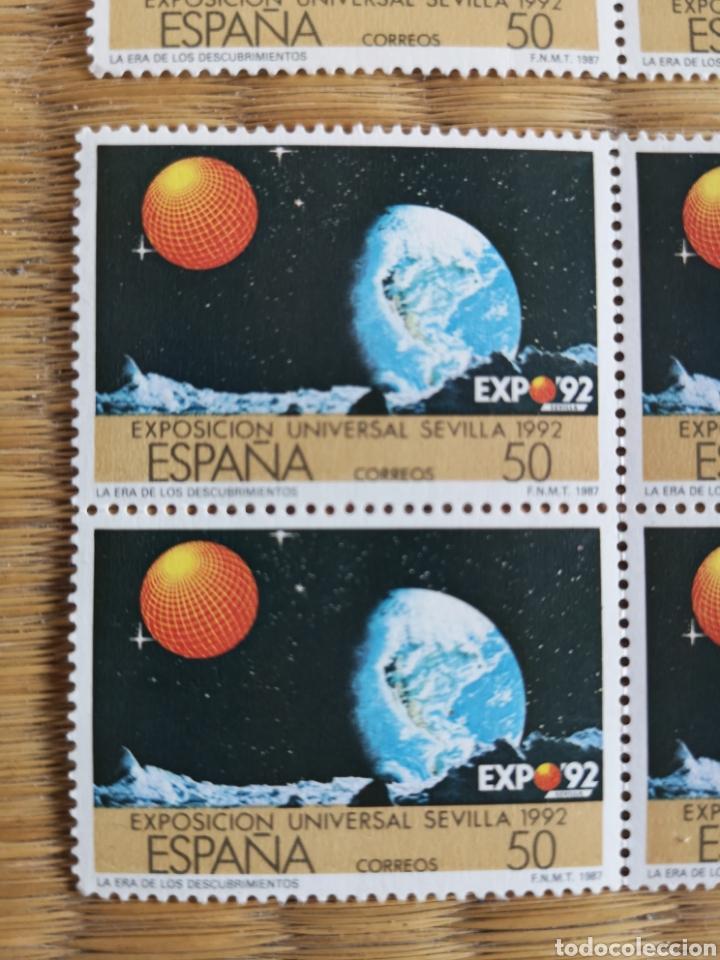 Sellos: 8 sellos de 50 pesetas Exposición Universal Sevilla 1992 - Foto 2 - 206382367