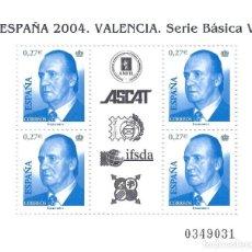 Sellos: EDIFIL 4088 JUAN CARLOS I. HOJA BLOQUE. ESPAÑA 2004. VALENCIA. MNH **. Lote 206405601