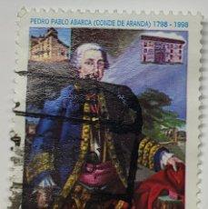 Sellos: SELLO ESPAÑA, PEDRO PABLO ABARCA, CONDE DE ARANDA, 1998. Lote 206551035