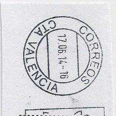 Sellos: SELLO NAVIDAD 2013.TARIFA A. SOBRE FRAGMENTO FECHADOR VALENCIA 17-6-14. Lote 206564155