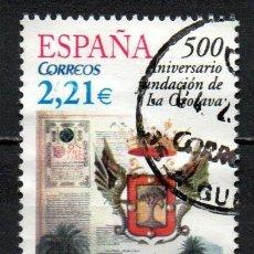 Sellos: SELLO USADO DE ESPAÑA -500 ANIVERSARIO DE LA FUNDACIÓN DE LA OROTAVA-, AÑO 2005. Lote 206565041