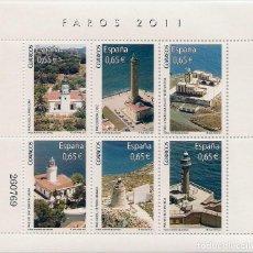 Sellos: ESPAÑA - 2011 - FAROS DE ESPAÑA - BLOQUE NUEVO. Lote 206581013