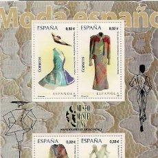 Sellos: ESPAÑA - 2009 - MODA ESPAÑOLA DE MUSEO MANUEL PIÑA, MANZANARES , CIUDAD REAL - BLOQUE NUEVO. Lote 206581512