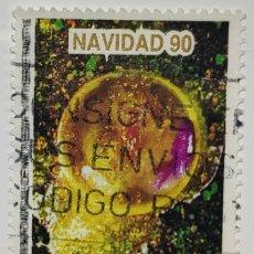 Sellos: SELLO ESPAÑA, NAVIDAD, POEMA CÓSMICO, 1990. Lote 206583006