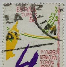 Sellos: SELLO ESPAÑA, CONGRESO INTERNACIONAL CIENCIAS HISTORICAS, 1990. Lote 206583625