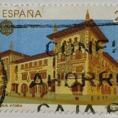 Sellos: SELLO ESPAÑA, EDIFICIO COMUNICACIONES VITORIA, 1990. Lote 206583766
