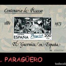 Sellos: HOJA DE 200 PESETAS AÑO 1981 ORIGINAL ( CENTENARIO DE PICASSO - EL GURNICA EN ESPAÑA ) SERIE 2293781. Lote 206595365
