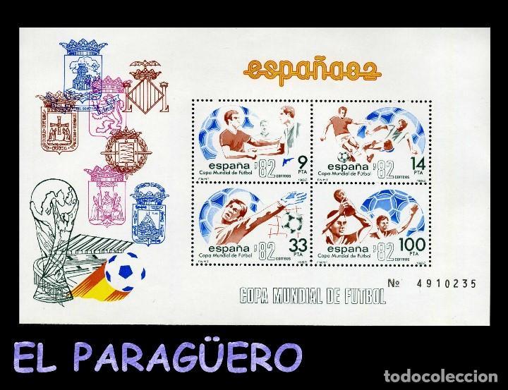 HOJA DE 4 VALORES AÑO 1982 ORIGINAL ( ESPAÑA - COPA MUNDIAL DEL 82 DE FUTBOL ) SERIE 4910235 (Sellos - España - Juan Carlos I - Desde 1.975 a 1.985 - Nuevos)