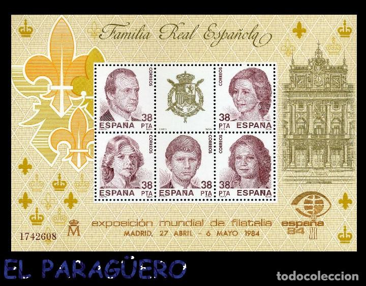 HOJA DE 5 VALORES AÑO 1984 ORIGINAL ( FAMILIA REAL ESPAÑOLA ) SERIE 1742608 (Sellos - España - Juan Carlos I - Desde 1.975 a 1.985 - Nuevos)