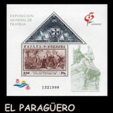 Sellos: HOJA DE 2 VALORES AÑO 1992 ORIGINAL( EXPOSICION MUNDIAL DE FILATELIA GRANADA 92 )Nº1321900. Lote 206818692