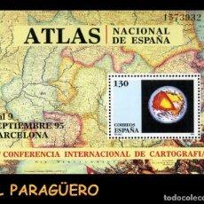 Sellos: HOJA DE UN VALOR AÑO 1995 ORIGINAL ( 17 CONFERENCIA INTERNACIONAL DE CARTOGRAFIA BARCELONA)Nº1573932. Lote 206826103