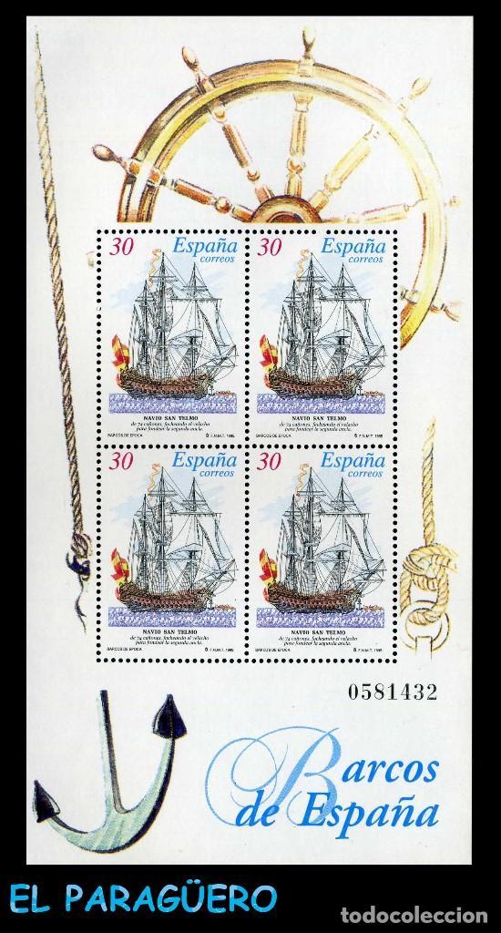 HOJA DE 4 VALORES AÑO 1995 ORIGINAL ( BARCOS DE ESPAÑA ) Nº0581432 (Sellos - España - Juan Carlos I - Desde 1.986 a 1.999 - Nuevos)