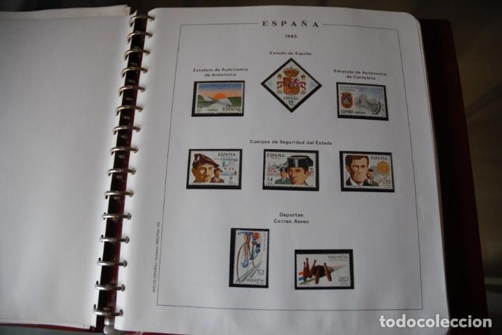 ALBUM COLECCIÓN SELLOS ESPAÑA AÑOS 1983-1991. HOJAS PHILOS. NUEVOS. COMPLETA. VER FOTOS. (Sellos - España - Juan Carlos I - Desde 1.986 a 1.999 - Nuevos)