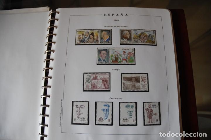 Sellos: ALBUM COLECCIÓN SELLOS ESPAÑA AÑOS 1983-1991. Hojas Philos. Nuevos. Completa. Ver fotos. - Foto 2 - 206839080