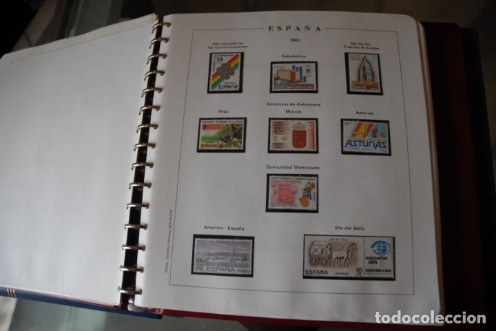 Sellos: ALBUM COLECCIÓN SELLOS ESPAÑA AÑOS 1983-1991. Hojas Philos. Nuevos. Completa. Ver fotos. - Foto 5 - 206839080