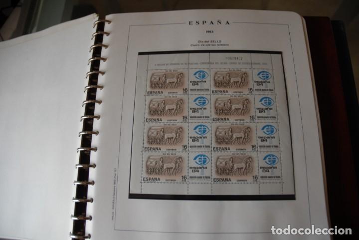 Sellos: ALBUM COLECCIÓN SELLOS ESPAÑA AÑOS 1983-1991. Hojas Philos. Nuevos. Completa. Ver fotos. - Foto 6 - 206839080