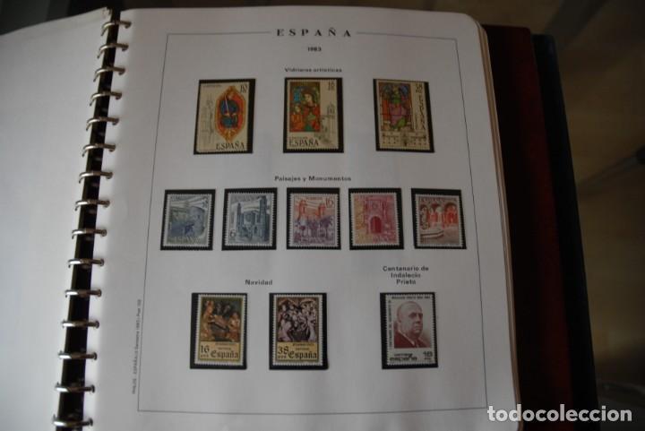 Sellos: ALBUM COLECCIÓN SELLOS ESPAÑA AÑOS 1983-1991. Hojas Philos. Nuevos. Completa. Ver fotos. - Foto 7 - 206839080