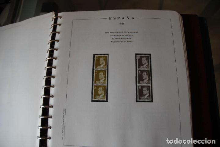 Sellos: ALBUM COLECCIÓN SELLOS ESPAÑA AÑOS 1983-1991. Hojas Philos. Nuevos. Completa. Ver fotos. - Foto 8 - 206839080