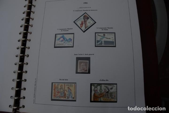 Sellos: ALBUM COLECCIÓN SELLOS ESPAÑA AÑOS 1983-1991. Hojas Philos. Nuevos. Completa. Ver fotos. - Foto 30 - 206839080