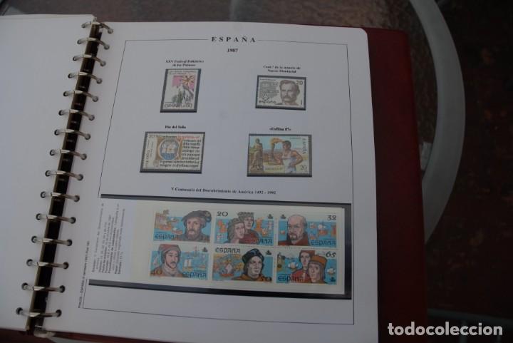 Sellos: ALBUM COLECCIÓN SELLOS ESPAÑA AÑOS 1983-1991. Hojas Philos. Nuevos. Completa. Ver fotos. - Foto 33 - 206839080