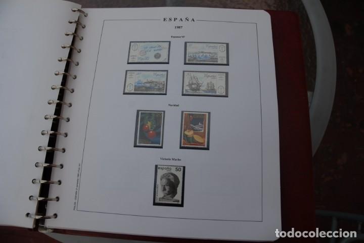 Sellos: ALBUM COLECCIÓN SELLOS ESPAÑA AÑOS 1983-1991. Hojas Philos. Nuevos. Completa. Ver fotos. - Foto 34 - 206839080
