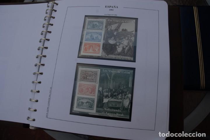 ALBUM COLECCIÓN SELLOS ESPAÑA AÑOS 1992-1998. HOJAS PHILOS. NUEVOS. COMPLETA. VER FOTOS. (Sellos - España - Juan Carlos I - Desde 1.986 a 1.999 - Nuevos)