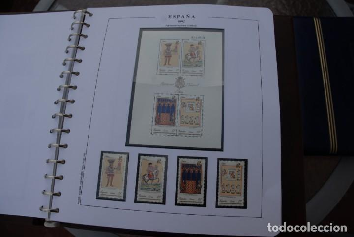 Sellos: ALBUM COLECCIÓN SELLOS ESPAÑA AÑOS 1992-1998. Hojas Philos. Nuevos. Completa. Ver fotos. - Foto 9 - 206839093