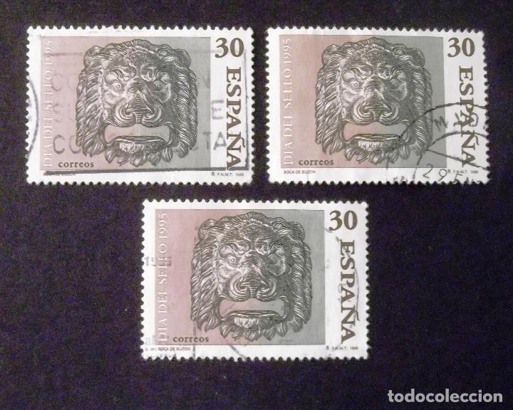 3346, TRES SERIES EN USADO. SELLO. (Sellos - España - Juan Carlos I - Desde 1.986 a 1.999 - Usados)