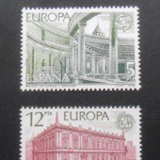 Sellos: SERIE COMPLETA 2 SELLOS NUEVOS ESPAÑA 1978 - EUROPA. Lote 206998195