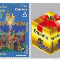 Sellos: ESPAÑA, N°5259/60 MNH, NAVIDAD 2018. Lote 207022313