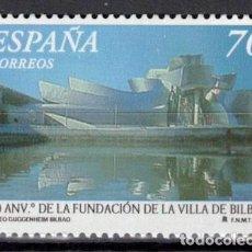 Sellos: ESPAÑA 2000 - EDIFIL 3714 - 700 ANIV. VILLA DE BILBAO. Lote 207038282