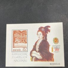 Sellos: HOJA POSTAL. EDIFIL 3068. EXLFINA 90. EXPOSICION FILATELICA NACIONAL. ZARAGOZA, 1990.. Lote 207079951