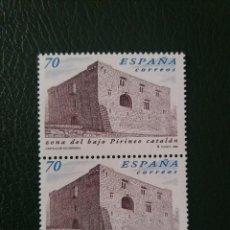 Sellos: 2 SELLOS ESPAÑA, 70 PTAS, BAJO PIRINEO CATALAN,1999, NUEVOS.. Lote 207129281