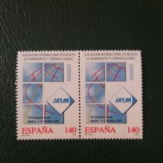 Sellos: 2 SELLOS ESPAÑA, 140 PTAS, IATM,1997, NUEVOS.. Lote 207129843