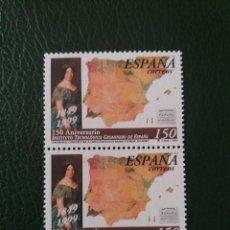 Sellos: 2 SELLOS ESPAÑA, 150 PTAS, GEOMINERO DE ESPAÑA,1999, NUEVOS.. Lote 207130295