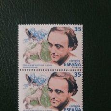 Sellos: 2 SELLOS ESPAÑA, 35 PTAS, RODRIGUEZ DE LA FUENTE,1998, NUEVOS.. Lote 207132161