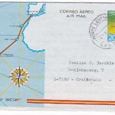Sellos: HP9-17- AEROGRAMA CIRCULADO MONTE LENTISCAL (LAS PALMAS)- ALEMANIA 1983. Lote 207144131