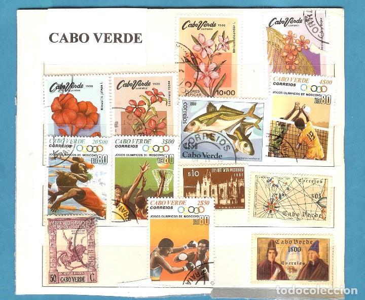 LOTE DE SELLOS DE CABO VERDE (Sellos - España - Juan Carlos I - Desde 2.000 - Nuevos)