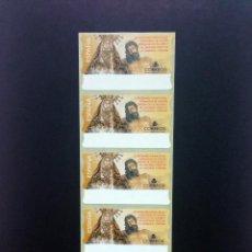 Sellos: ESPAÑA.AÑO 2000./NTRA SRA DE LOS DOLORES).TIRA DE 5 ETIQUETAS POSTALES NUEVAS Y LIMPIAS (ATMS ).. Lote 207214953