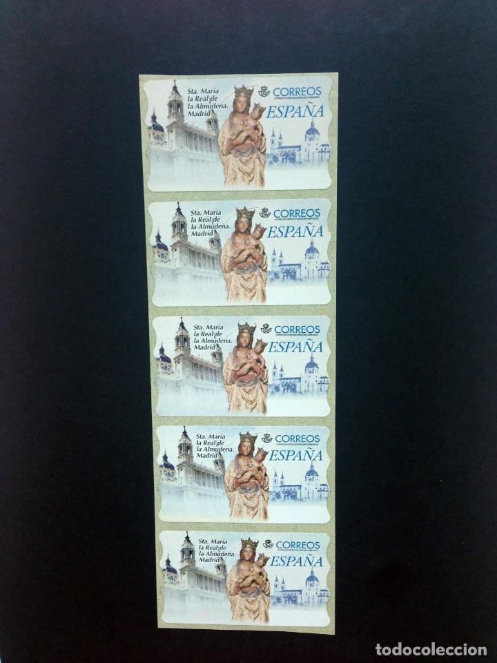 ESPAÑA.AÑO 1999./LA ALMUDENA. TIRA DE 5 ETIQUETAS POSTALES NUEVAS Y LIMPIAS. (Sellos - España - Juan Carlos I - Desde 1.986 a 1.999 - Nuevos)