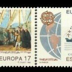 Sellos: ESPAÑA, N°3196/97 MNH, EUROPA CEPT 1992 (FOTOGRAFÍA ESTÁNDAR). Lote 207218712
